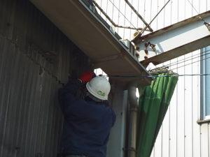 愛知県名古屋市高所作業架空線接続工事【さつき電気商会】