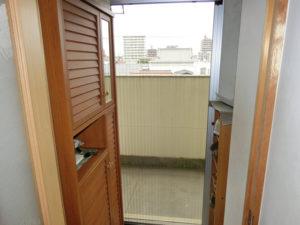 愛知県名古屋市昭和区LIXILしまえるんですαマンション玄関ドア網戸取付工事【サッシ.NET】