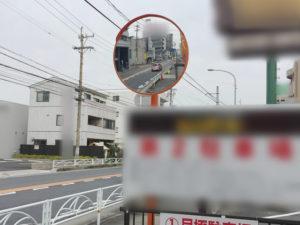 愛知県春日井市店舗駐車場カーブミラー取付工事【サッシ.NET】