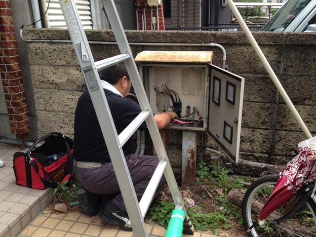 名古屋市西区 電気メーター移設工事