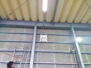 愛知県名古屋市港区工場有圧換気扇新設の電気工事【さつき電気商会】