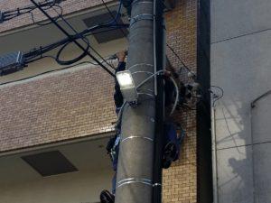 愛知県名古屋市中区街路灯LEDへ取替工事【さつき電気商会】