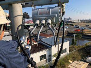 愛知県津島市工場動力設備受電容量増設電気工事【さつき電気商会】
