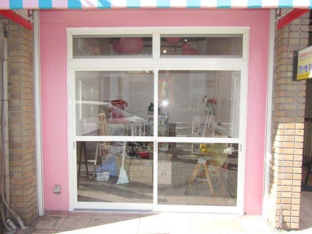 名古屋市中区 店舗入口の引戸新設 リフォーム工事