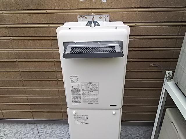 埼玉県川越市リンナイガス給湯器工事