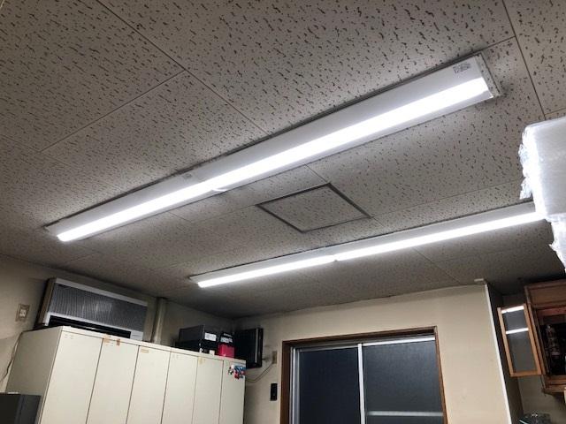 名古屋市中区 LED照明器具取替の電気工事 事務所室内照明
