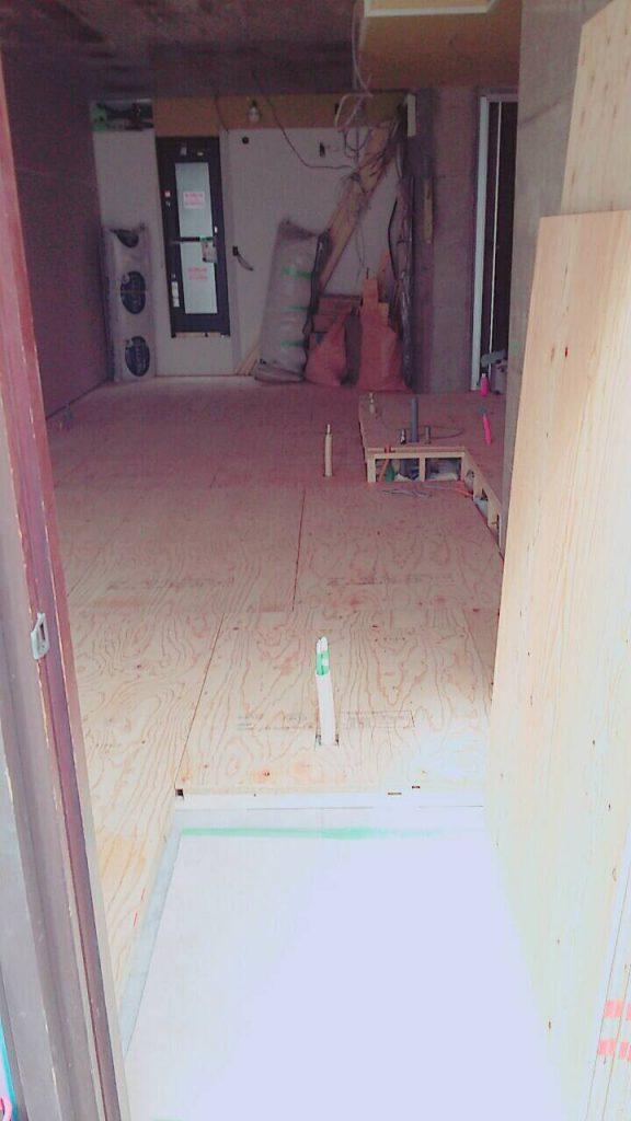 東京都豊島区目白にてマンションの住宅改修に伴う置床工事