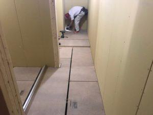 東京都世田谷区にて新築工事に伴う置床工事