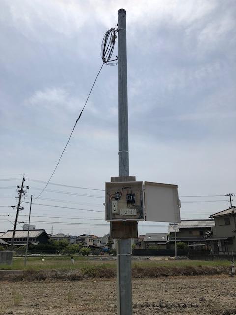 愛知県名古屋市港区臨時用電源コンセント設置&臨時電灯申請・電気工事
