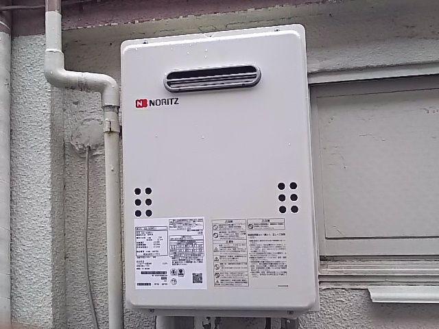 東京都台東区 ガス給湯器交換工事 ノーリツGQ-1639WS-1