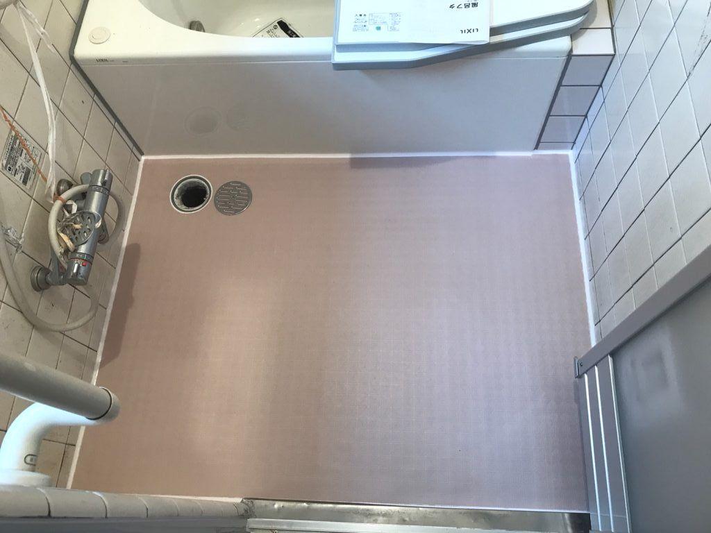 東京都葛飾区浴室床改修工事