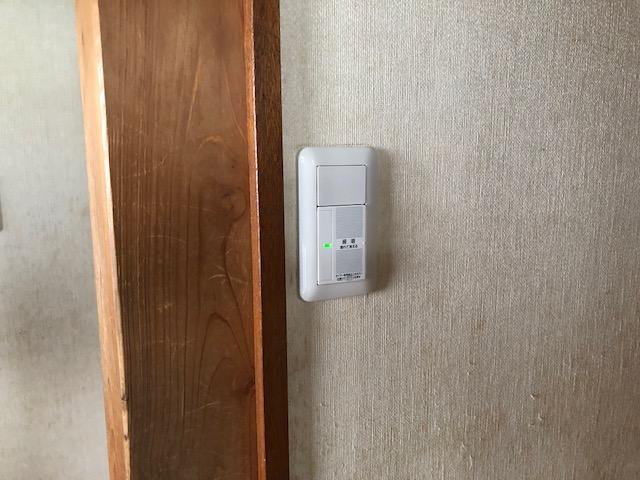 愛知県名古屋市名東区パナソニック家庭用玄関灯スイッチ「あけたらタイマ」電気工事
