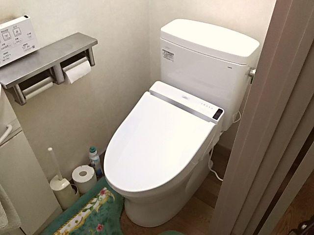 東京都品川区TOTOトイレ(ピュアレストQR+ウォシュレットS1A)工事