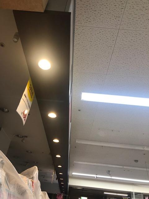 三重県桑名市店舗LEDダウンライト取付工事