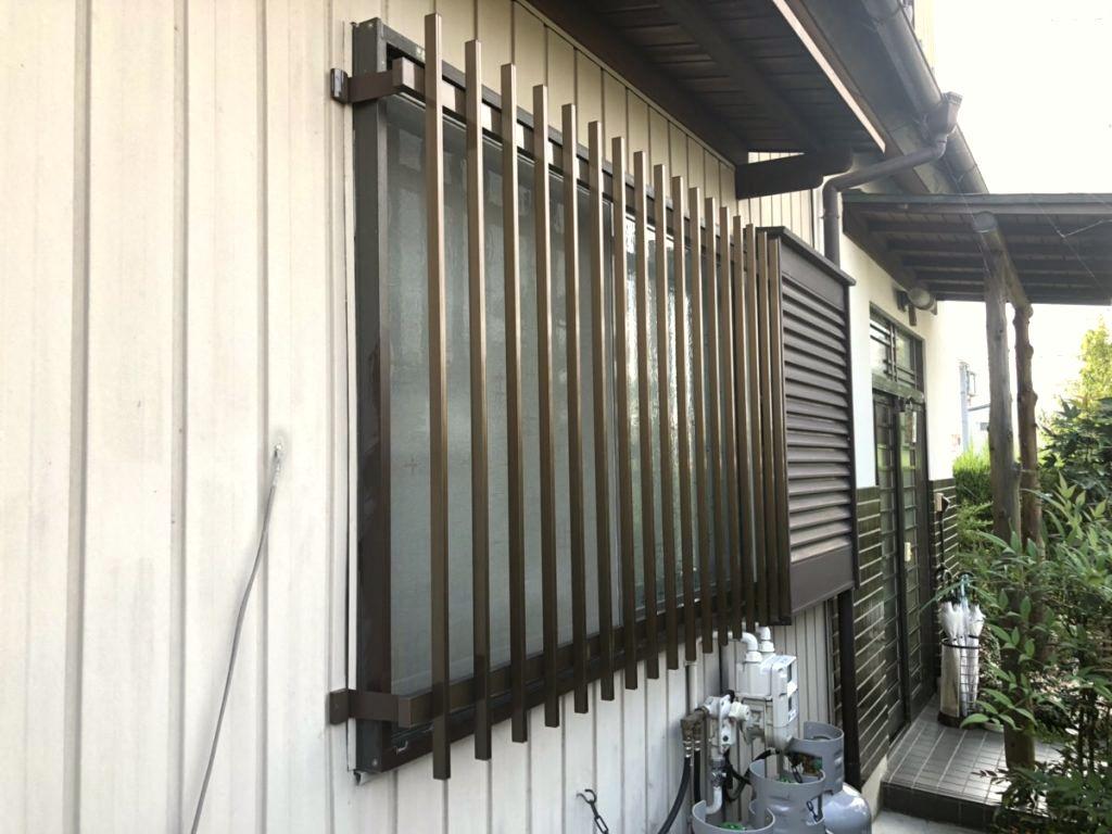 名古屋市天白区面格子で窓の防犯対策取付工事