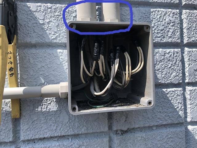 名古屋市北区エアコン電線メンテナンス電気工事