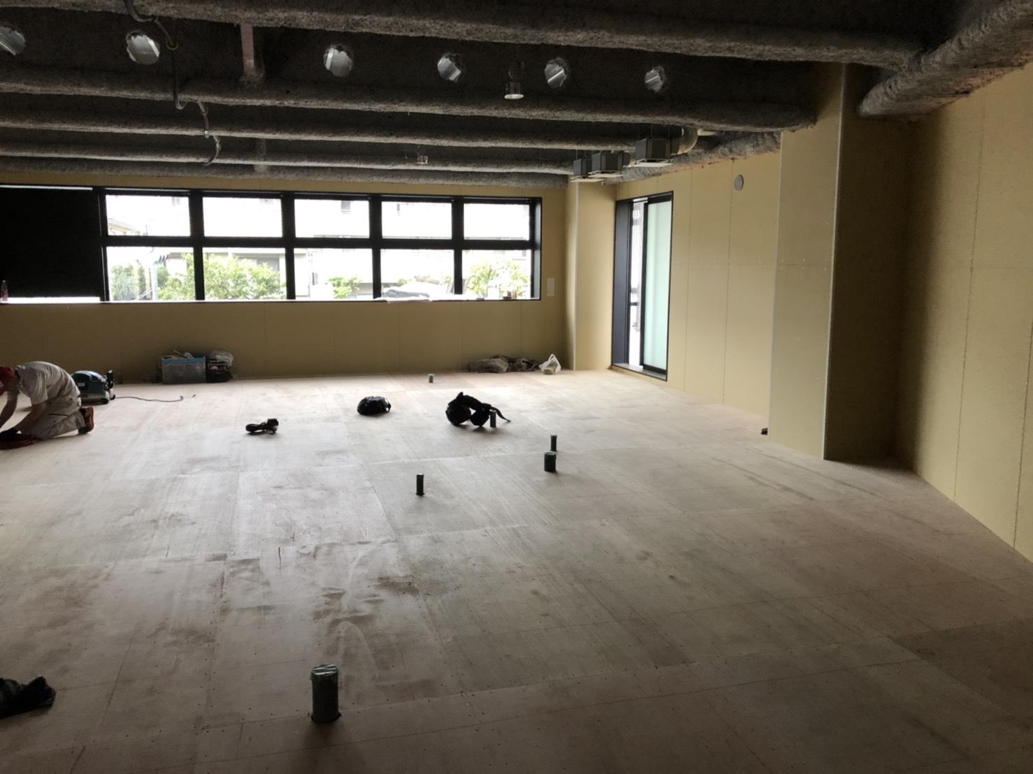 東京都世田谷区フリーフロアCP-F医療施設の置床工事