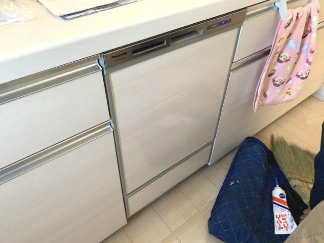 愛知県春日井市 ビルトイン食洗機後付け工事パナソニックNP-45MD8S