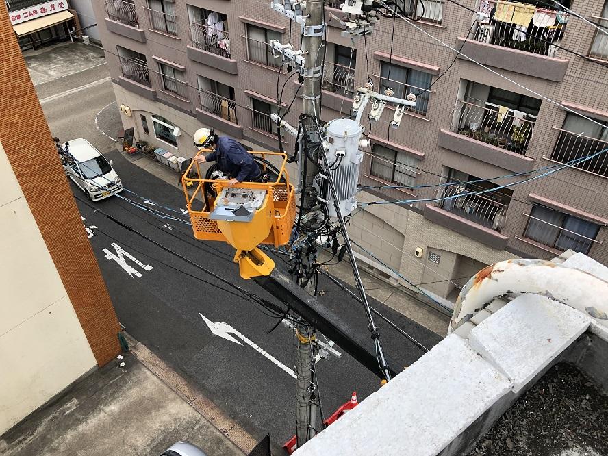 名古屋市熱田区キュービクル更新に伴う高圧ケーブル電気工事店【株式会社さつき電気商会】