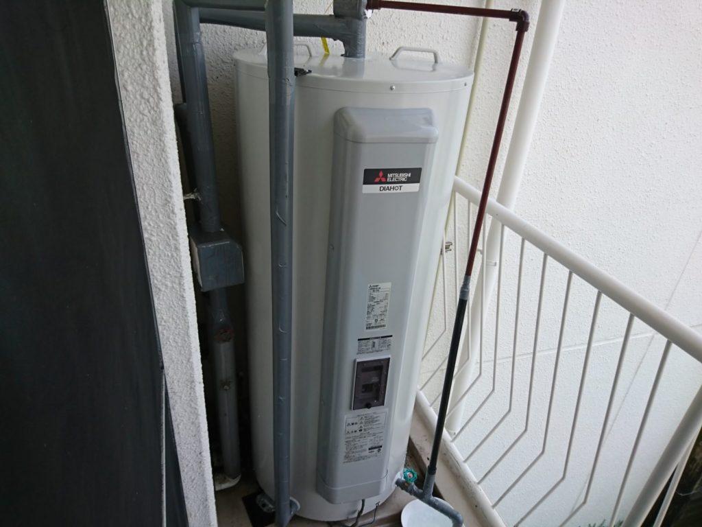 名古屋市昭和区電気温水器取替工事三菱電機SRG-375G