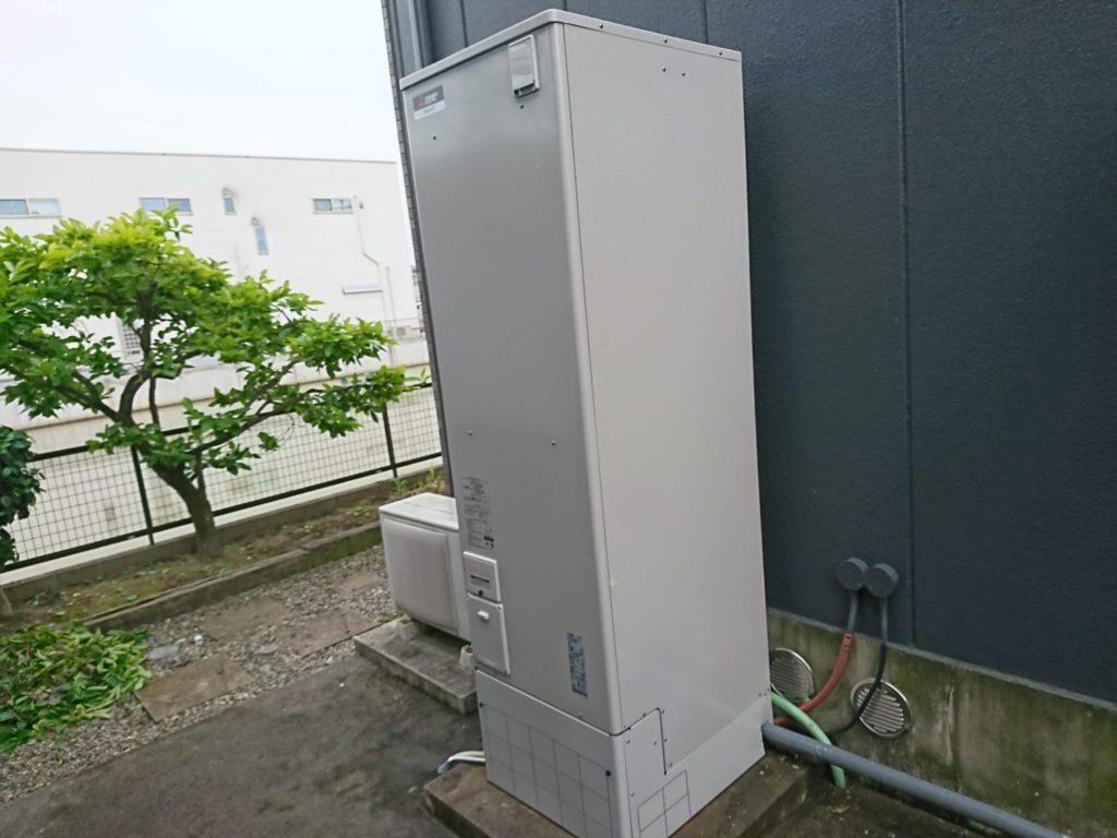 愛知県海部郡大治町電気温水器取替工事三菱電機SRT-J46CD5