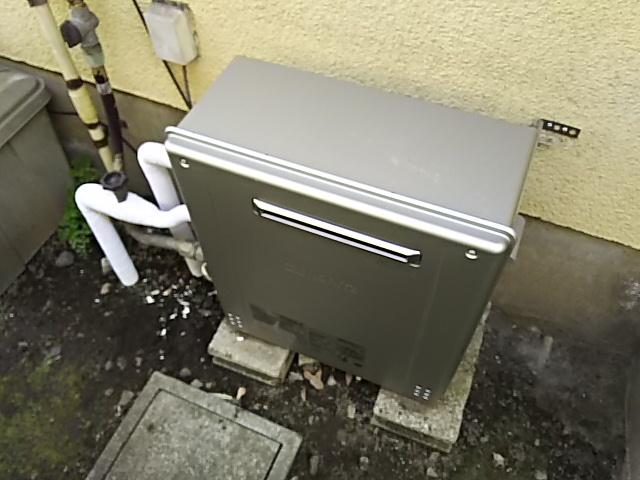 横浜市鶴見区ガス給湯器エコジョーズ交換工事 ノーリツGT-C2462ARX