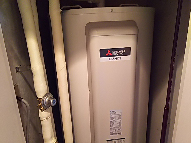 神奈川県座間市電気温水器交換工事三菱電機SRG-375G