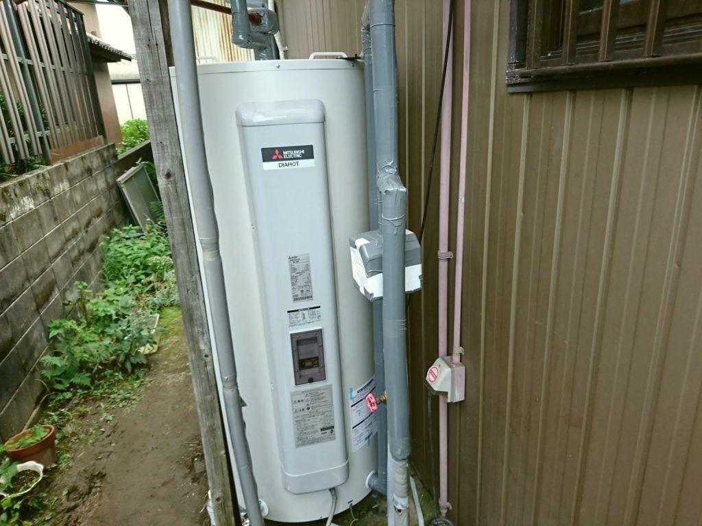 愛知県一宮市 電気温水器取替工事 三菱電機SRG-375G