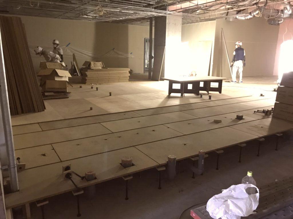 神奈川県川崎市多摩区フクビ乾式二重床・置床工事