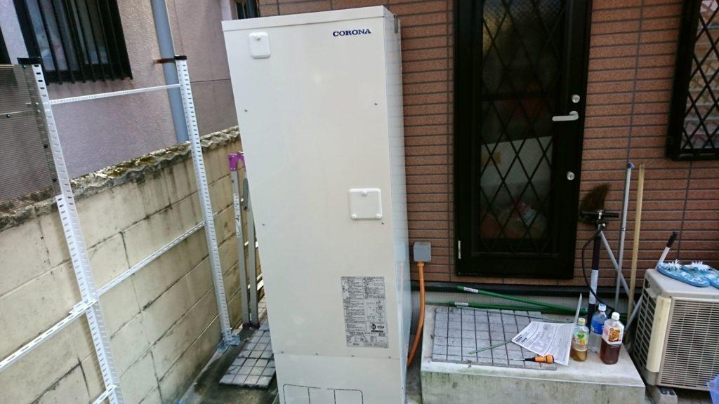 奈良県桜井市 電気温水器取替工事 CORONA UWH-37X2A2U-2