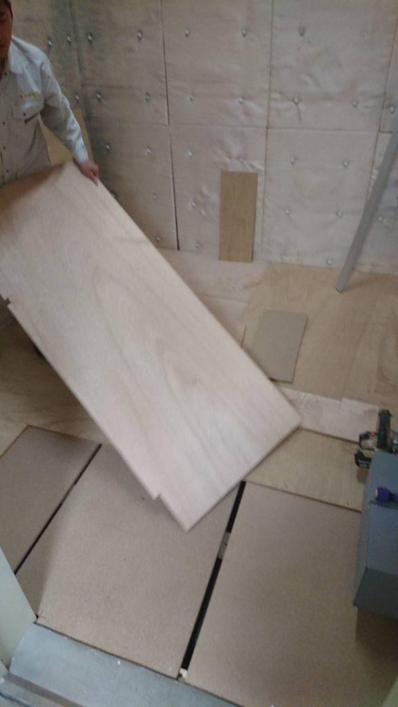 神奈川県横浜市港南区フクビ乾式二重床の置床工事