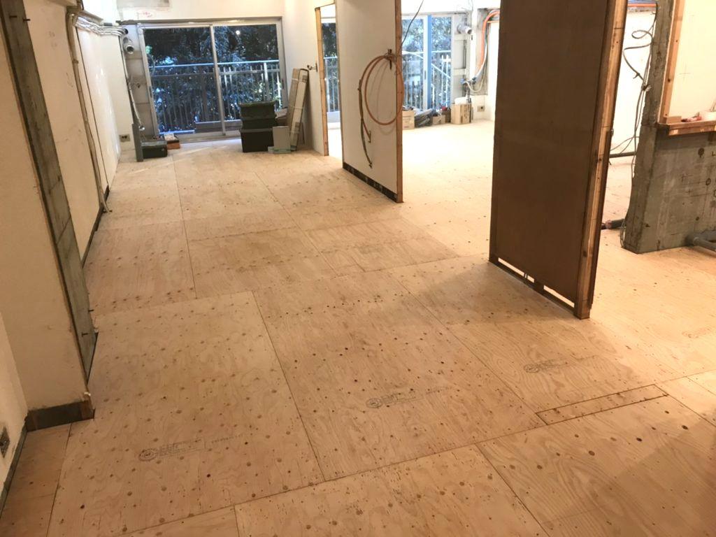 東京都港区フクビフリーフロアCPマンション置床工事