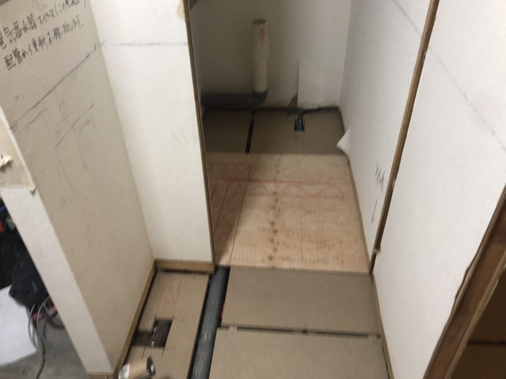 東京都品川区フクビフリーフロアCP床リフォーム置床工事