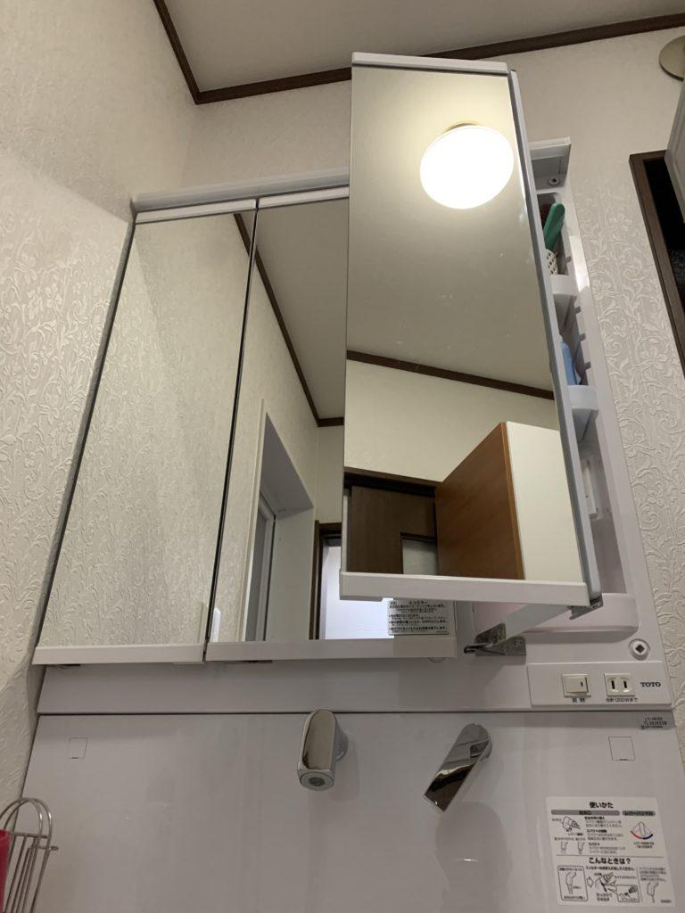 愛知県大府市TOTO洗面化粧台工事