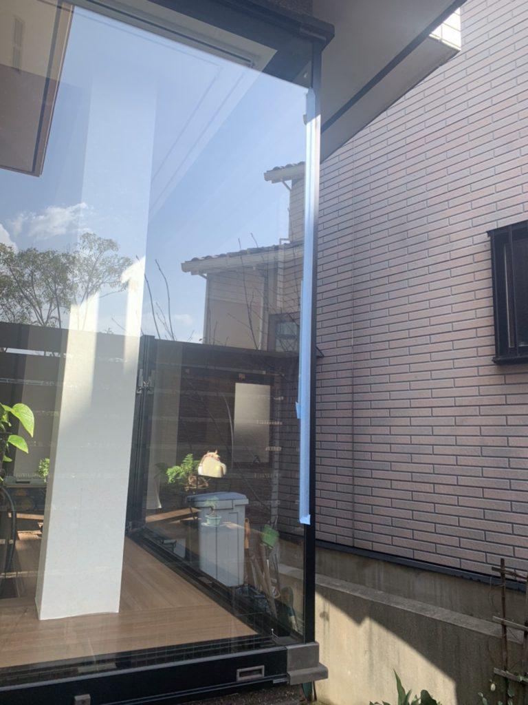 愛知県名古屋市名東区 出窓ガラス取替工事 日本板硝子 クリアフィット
