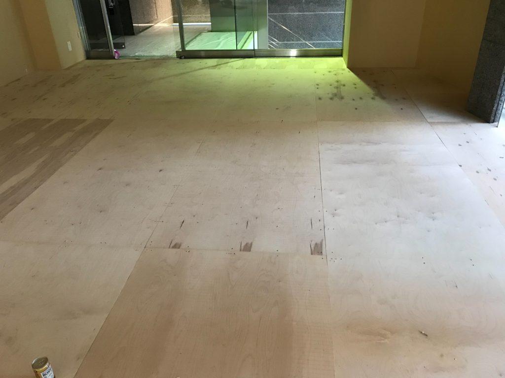 神奈川県横浜市都筑区フクビ乾式二重床置床工事