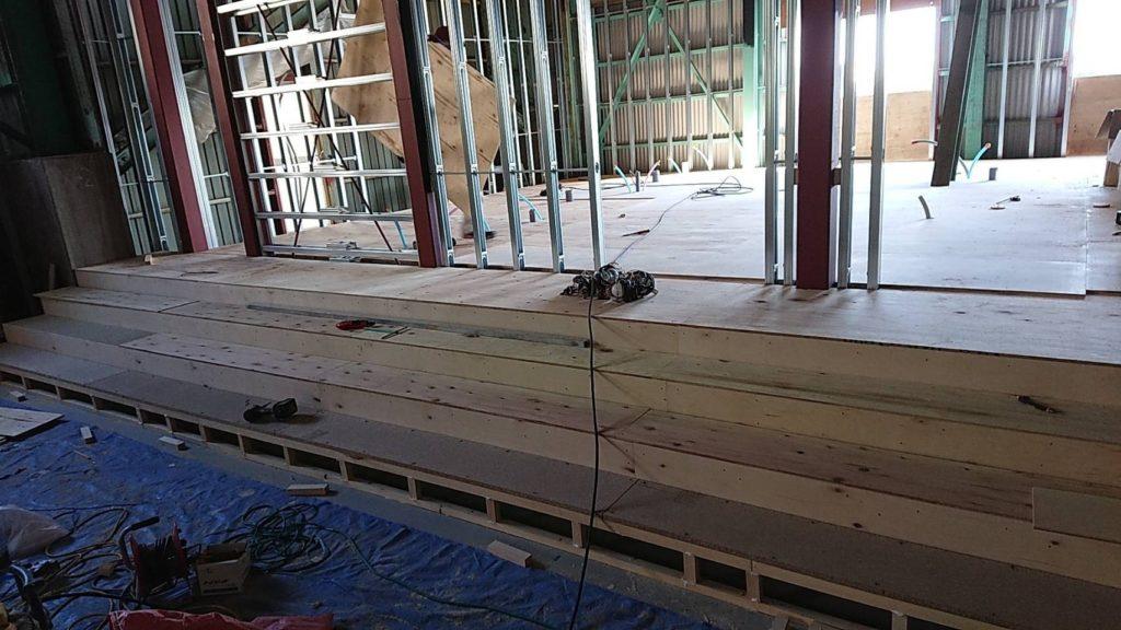 神奈川県逗子市にてスタジオの置床工事