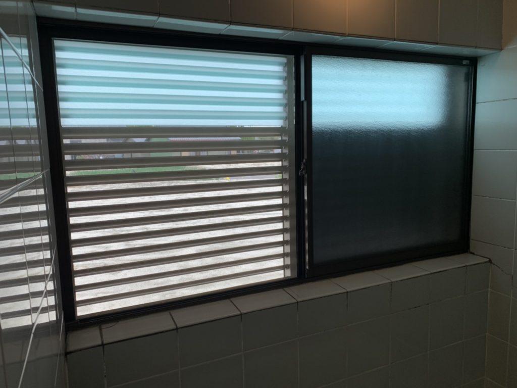 愛知県大府市 浴室ブラインド取替工事 YKK 多機能ルーバー