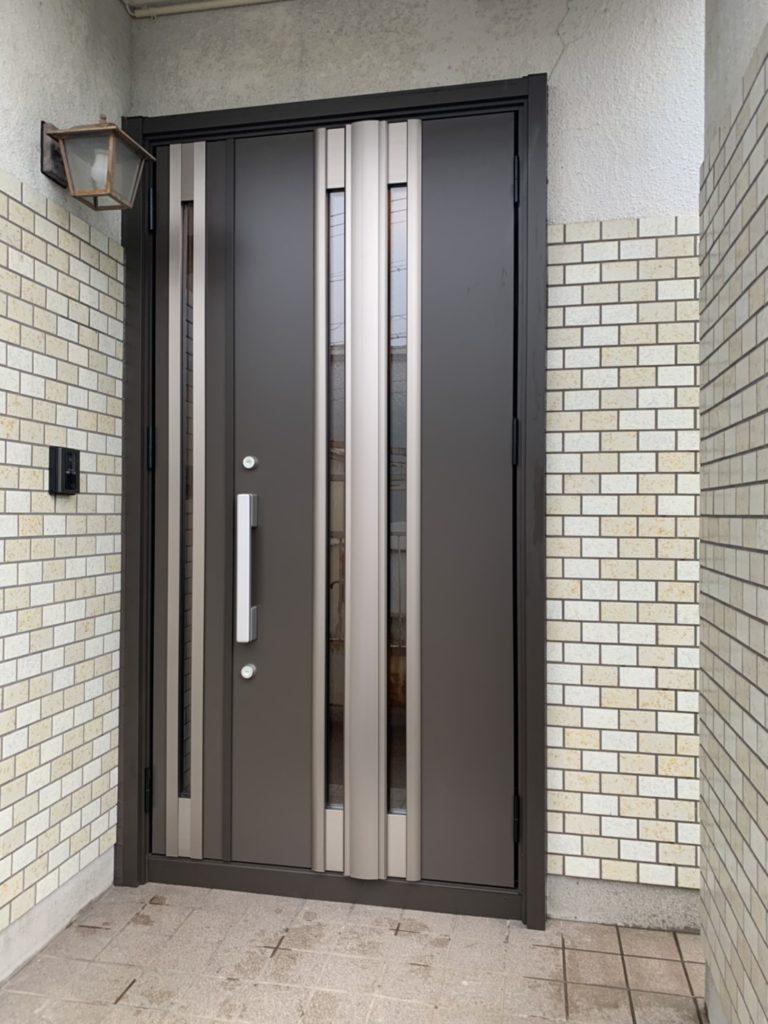 愛知県東海市戸建住宅玄関ドア取替工事LIXILリシェント