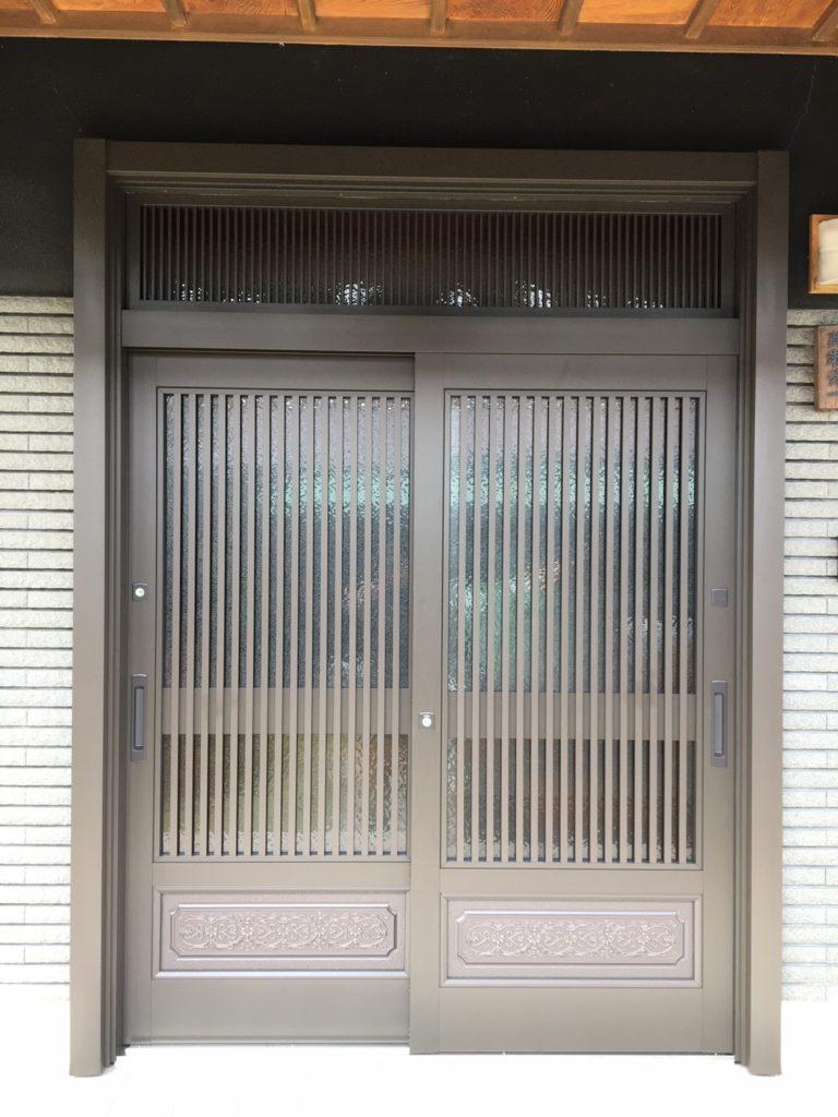 愛知県知多郡東浦町 戸建住宅 玄関引戸取替工事 LIXILリシェント