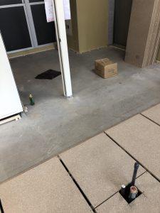 東京都中央区銀座オフィスビルの置床工事