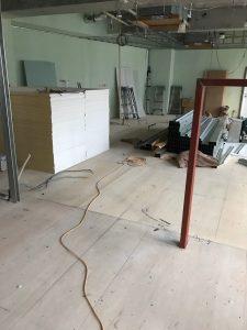 東京都町田市 美容院店内の置床工事 フリーフロアCP