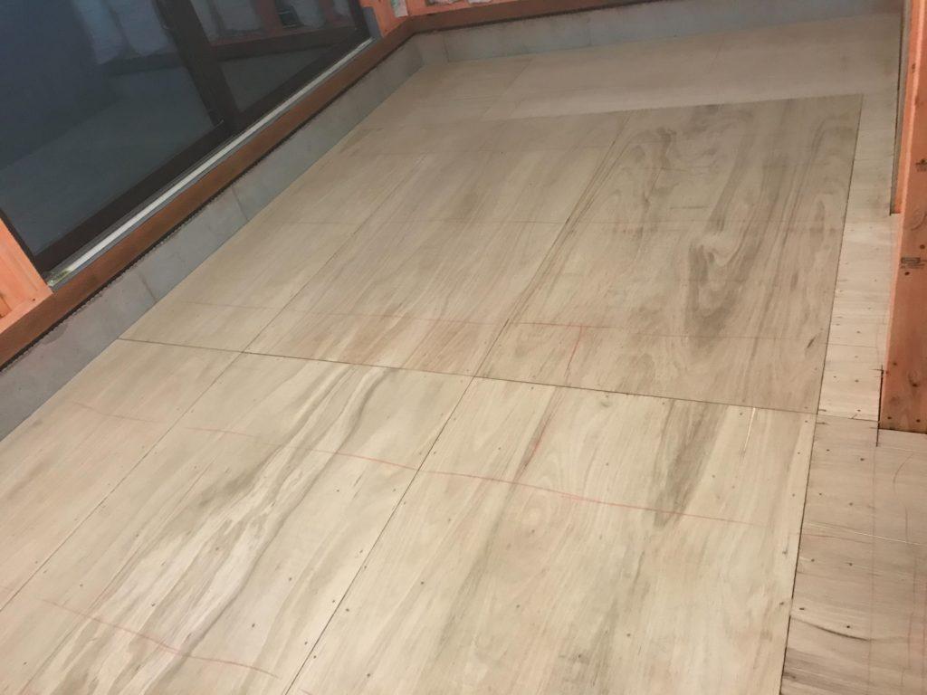 東京都練馬区にて戸建住宅の置床工事