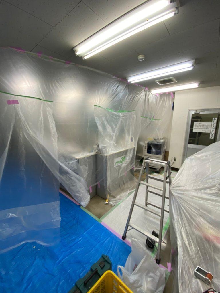 神奈川県厚木市にて物流倉庫事務所の結露対策工事