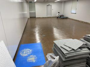 神奈川県藤沢市にてビルのOAフロア工事