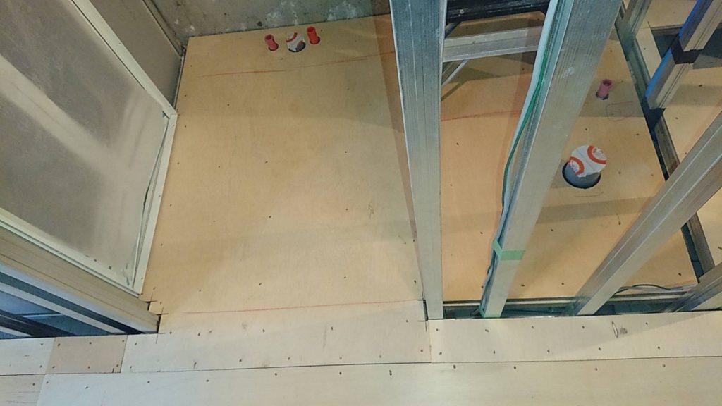 東京都新宿区にてマンションの置床工事
