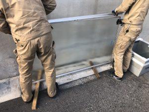 名古屋市熱田区 ガラス割れ替えの緊急対応を行いました!(工場)