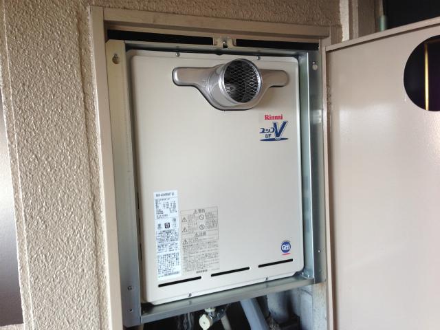 あま市リンナイ給湯器 RUF-A2400SAT 熱源機から通常タイプへ ガスふろ給湯器取替工事