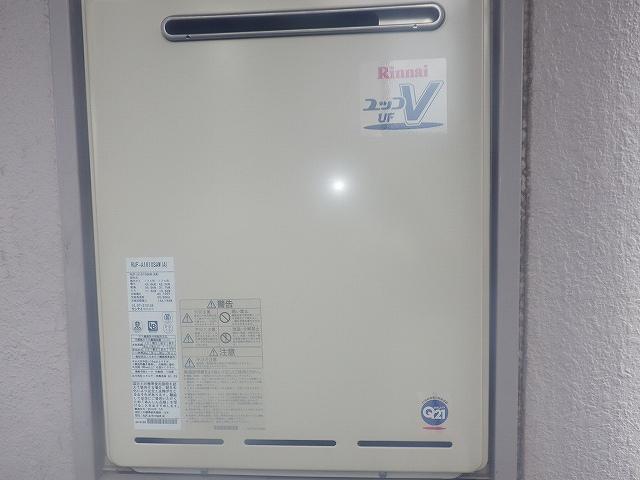 岐阜県各務原市 マンション 給湯器取替工事店 リンナイ RUF-A1610SAW ガス給湯器施工事例