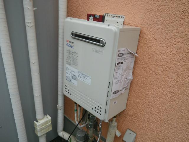 神戸市北区 ノーリツ 壁掛ガス給湯器取替工事店 GT-C2452AWX-2 エコジョーズ施工事例